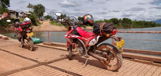 motorcycles in Laos