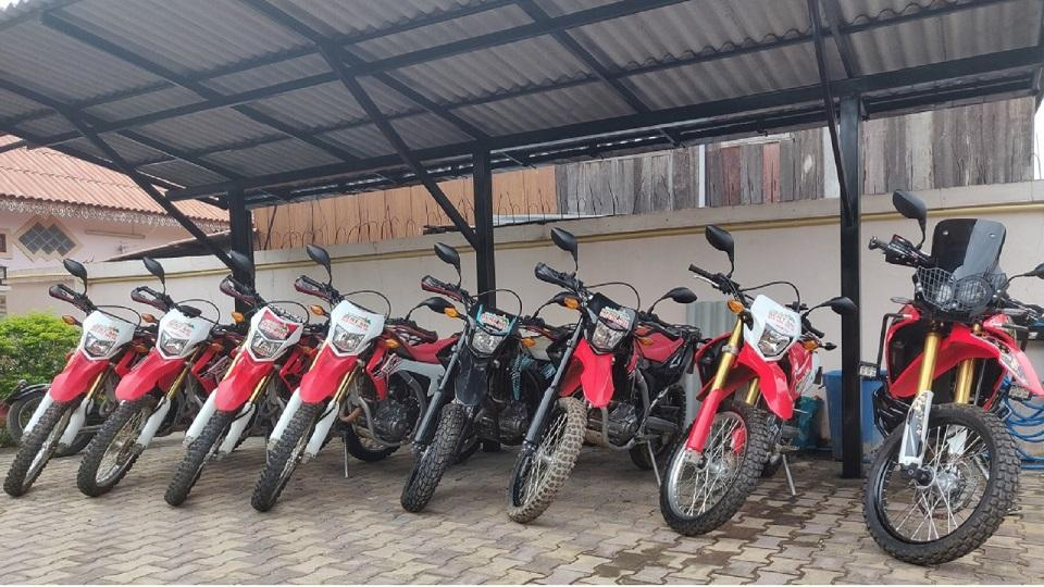 Rideinlaos - motorcycle fleet for rent in Laos